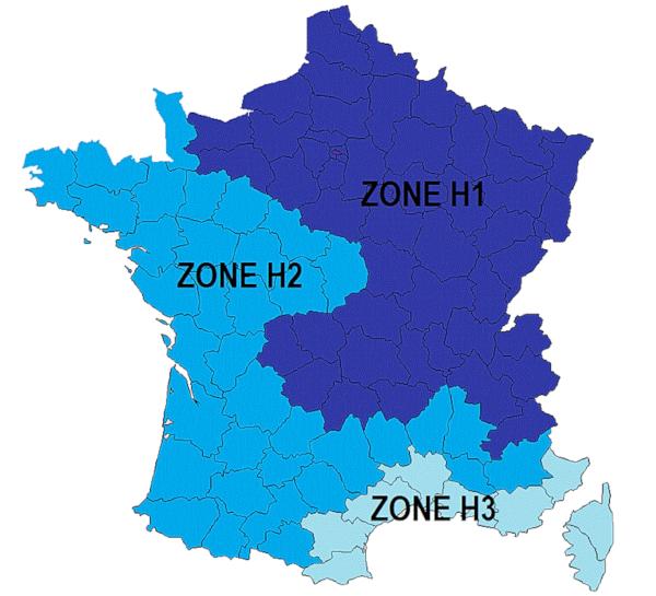 Zone climatique des CEE pour la BAR-TH-160